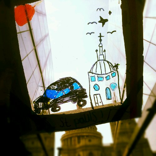 Little art: St Paul's and Black Cabs